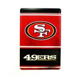 San Francisco 49ers Tin Sign, Vintage Style
